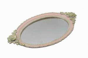 China Decorative Rose Gold Mirrored Vanity Tray Vertically On Tabletop Customization Size on sale