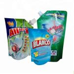 spout pouch packaging Plastic liquid laundry detergent spout pouch washing powder packaging bag