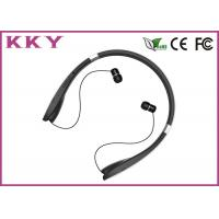 China Neckband Bluetooth Headphone with Luxurious Materials and Retractable Foldable Earbuds on sale