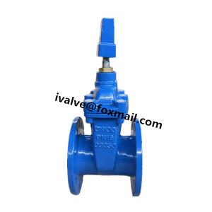 China 5 Inch Ductile Iron DIN F4 Non Rising Stem Gate Valve on sale