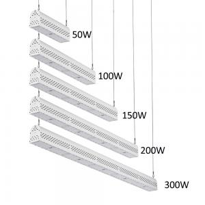 China Dimmable LED Linear High Bay Light Hanging Warehouse Lights Industrial 300w on sale