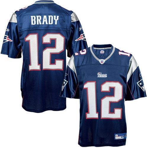 570b7119 Reebok NFL Equipment New England Patriots #12 Tom Brady Navy Replica ...