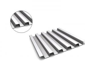 China 0.7mm Thick Corrugated Roof Panels , Mill Finish Residential Metal Roofing  on sale