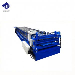 China Double Layer Corrugated Profile Steel Roofing Sheet Roll Forming Machine Roof Tile Making Machine on sale