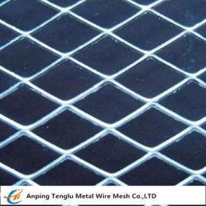 China Carbon Steel Expanded Metal |Flattened/Standard Expanded Mesh on sale
