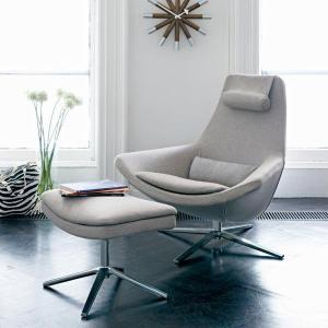 China Metropolitan Fiberglass Lounge Chair Swivel High Back Customized Colors on sale