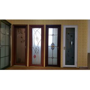 China Toilet Kitchen Room Tempered Glass Aluminium Folding Doors Waterproof Side Hung on sale