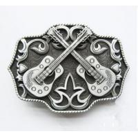 Vintage antique pewter plated embossed belt buckle for men, violin design men belt buckle,
