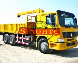 China 6x4 Truck Mounted Hydraulic Crane , 10 Tons Lifting Load Truck Mounted Crane on sale