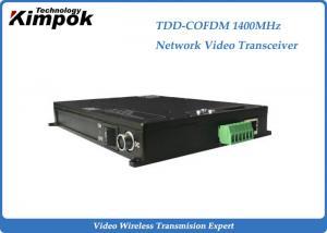 China 1400Mhz COFDM Transceiver Ethernet Video Sender 10-15 km Transmit Distance on sale
