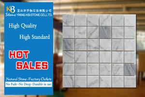China Italian Bianco Carrera Marble Mosaic Tiles Marble Mosaics Tiles Polished on sale
