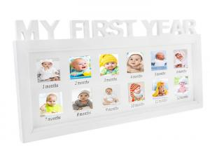China White Xmas Memories Multi Picture Frames Gift For Newborn Girls / Boys Babies on sale