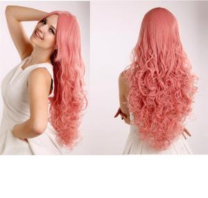 China Top Quality Long Crazy Red Color Loose Curly Party Queen Sexy Synthetic Costum Wig on sale