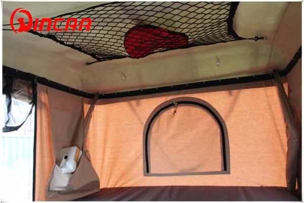 Hard Shell Fibreglass white box Car Roof Top Tent Manual by Handle