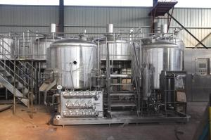 China hotel beer brewing machine craft commercial beer brewing equipment for sale beer brewing turnkey system supplier