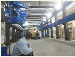 China Automatic Steel Robot Rail System For Flame Plating Long Working Life on sale