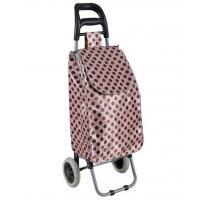"STB 22"" Lightweight Wheeled Shopping Trolley Bag, 600D Satin Fabric Hard Wearing & PP Nylon Rolling Push Trolley"
