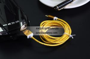 China Colorful 1.5m USB 2.0 Nylon Braided Micro USB Cable For Samsung Android Mobile Phone on sale