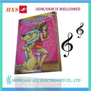 China Christmas Halloween Wedding Music Greeting Card Design on sale