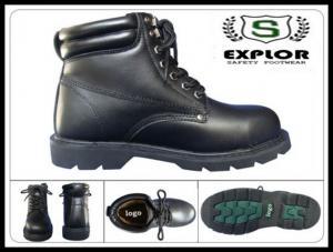 China le plein acier de bottes en cuir du grain des hommes a botté des bottes avec la pointe du pied de travail pour les bottes en caoutchouc des hommes on sale