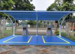 Lightweight Tensile Membrane Structures Metal Frame Car Park Canopy For Wash