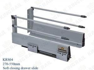 China concealed full extension drawer slide Runner for Cabinet KRS04 on sale