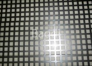 China Electro Galvanized Perforated Metal Sheet With Square Hole Pattern , Perforated Steel Plate  on sale