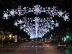 China Waterproof 2D Christmas Across Street Decoration Light