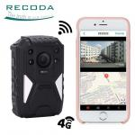 China RECODA 4G Wifi Body Camera Law Enforcement Recorder Police Body GPS WIFI Wearable wholesale