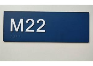 China 3.5X 8.5 ADA Room Signage , Custom Text Braille Room Number Signs With Raised Text on sale