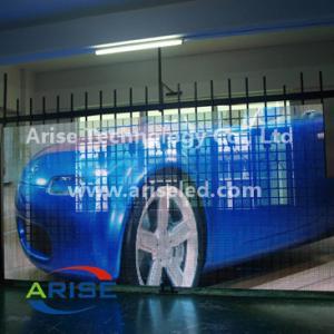 High Brightness SMD P10 416mm LED Mesh Screen LED Video Display