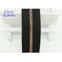 China Custom Normal Teeth Long Chain Zipper In Roll Black Polyester Tape For Pants on sale