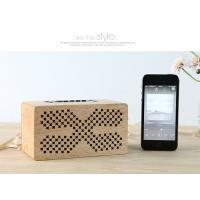 China Insert Card Natural Wood Speakers 10M Working Range Bluetooth Audio Speaker on sale