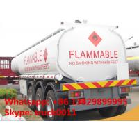 China Kenya oil gasoline diesel petrol 35000L~60000Liters tanker truck trailer 3 axles 35000L fuel tanker trailer for sale on sale