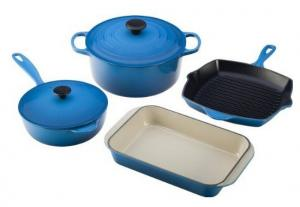 China Sunboat cast iron color painted enamel cookware set:stock pot, pan, tray on sale