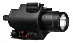 China 650nm Red Laser Weapon Mounted Light, 3 W LED Flashlight Torch 160 Lumens on sale