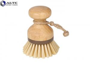 China Natural Bamboo Housekeeping Brushes For Pot Sink Kitchen Cleaning Scrubber on sale