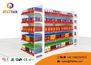 China European Style Supermarket Gondola Shelving For Retail Grocery Store Rack Display on sale