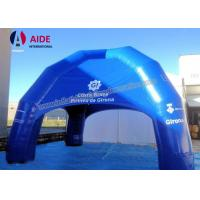 CE Blue Large Inflatable Tent , 6M Oxford Fabric Inflatable Spider Dome Tent