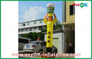 China Yellow Inflatable Air Dancer Cooker for Advertising , Inflatable Sky Dancer on sale