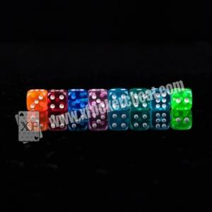 China Transparent Plastic Casino Magic Dice For Reomote Control Dice Device on sale