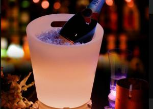 China Soft Drink Beer Wine Beverage Cooler Led Ice Bucket Two Colors Changing on sale