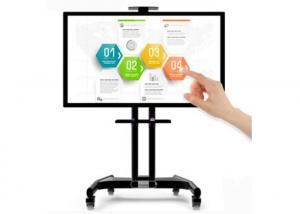 China 65 Inch Lcd Infrared Touch Smart Interactive Whiteboard With Mobile Stand on sale