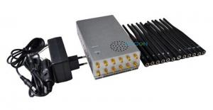 China 2dBi Antennas 3G 4G Signal Jammer Portable Built - In Battery 7.4V/10000mAh on sale