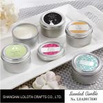 Chemical Free Scented Luxury Soy Candles , Personalised Tin Candles For Bathroom