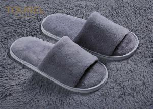 China Custom 100% Cotton Non Slip Unisex Disposable Hotel Slippers For Bathroom Shower on sale
