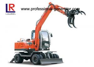 China Electric Grapple Flexiable Wheel Excavator For Agriculture 16MPa 65kw on sale