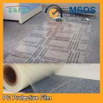 Film auto-adhésif de protecteur de tapis, protecteur en plastique transparent de film de tapis