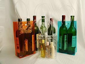 China Portable PVC Plastic Bag Wine Ice Bag Vinyl ECO - Friendly Colorful on sale