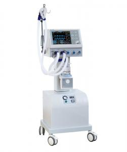 China Medical Icu Ventilator Hospital Breathing Machine With Air Compressor Trolley on sale